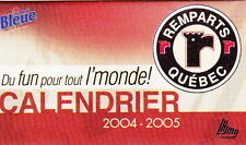 2004-05 QUEBEC REMPARTS HOCKEY POCKET SCHEDULE - FRENCH