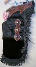 WESTERN REAL HAIR ON LEATHER SADDLE HORSE X LARGE CHINKS / CHAPS  RODEO GYMKHANA