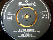 """THE CHI-LITES - I FOUND SUNSHINE  7"""" VINYL"""