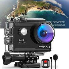 COOAU 20MP 4K WiFi Sport Action Camera Ultra HD 40M Waterproof Camcorder DV MIC