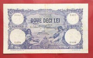 Romania 20 Lei - 1 FEBRUARIE 1923  P#20 SUPER CONDITION!!!  - RARE DATE!