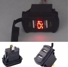 12V Car SUV Boat Rocker Switch Red LED Voltmeter Volt Meter Dual USB Charger Kit