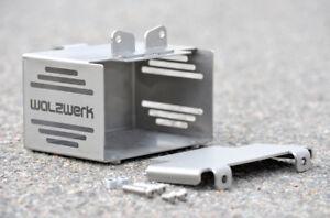 """Orig. WalzWerk Batteriekasten """"hide away"""" BMW R65/R80/R100 Edelstahl silber"""