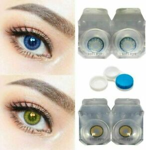 Gloosy Green Contact lens Zero Power Free Lens Solution for Sexy eye party.