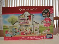 2015 AMERICAN GIRL MEGA BLOKS GRACE'S 2-IN-1 BUILDABLE HOME-NEW-FACTORY SEALED