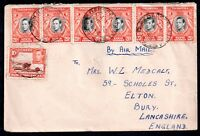 Kenya-U-T KGVI 1946 Multistamp Airmail Cover to UK WS6617