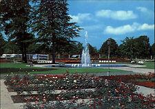 BERLIN Ost DDR Postkarte Stadtteil TREPTOW Rosen-Garten Pflanzen Beet 1981 color