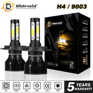 H4 / 9003 4-Sides LED Headlight Conversion Kit 2400W 360000LM Hi/Lo Beam Bulb