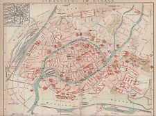 Strassburg Strasbourg Centre STADTPLAN um 1896 Esplanade Petite France Alsace