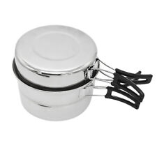 Camping Pot Portable Pan Steaming Rack Outdoor Picnic Cooking Set Cookware