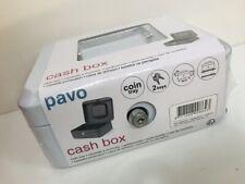 "Metal Security Cash Box Money Tray Steel Tin Petty 6"" WHITE"