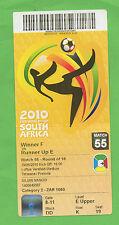 Billete Orig. Copa del Mundo Sudáfrica 2010 Paraguay-Japón 1/8 final!!! Raro