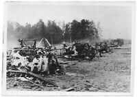Flugzeugfriedhof. Orig-Pressephoto um 1940