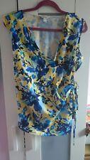 Ladies Precis blue/yellow flowered wrap top Size 16