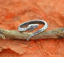 Snake Oxidized Silver Ring- Sterling Silver- Adjustable Ring,Serpent Snake Ring