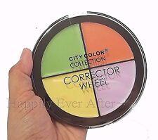 Color Corrector Wheel - City Color Cream to Powder Finish- Green, Orange, Purple