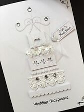 Personalised Handmade' Wedding Cake ' Wedding/Wedding Acceptance Card