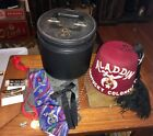 Vintage Fez Aladdin Kentucky Colonel 7 3/8 With Ties Medals Case D.T. Turin & Co