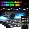 "RGB Multi 36""&48"" Tube LED Under Underglow Underbody Neon Strip Light For BMW"