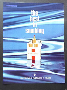 Vintage 1960s advert Wills EMBASSY cigarettes smoking full page red packet