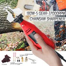 12V 180W 5 Gear Mini Chainsaw Sharpener Electric Grinder Chain Grinder File Tool