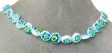 Millefiori Pretty Flowers! Coin Bead Strand 106975