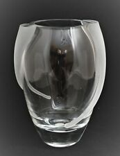 BADASH POLAND CRYSTAL CLEAR FROSTED DECORATION VASE MODERN
