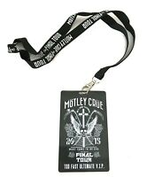 Motley Crue Final Tour 2015 VIP Stage Pass with Lanyard New Official Band Merch