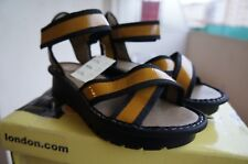 Fly London Kut, Sandales pour femme Jaune Yellow (Mustard (Black)) 39 EU