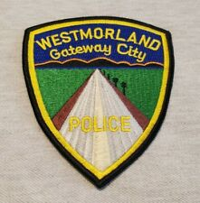Westmorland California Police Shoulder Patch