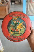 Vintage Mackintosh's Carnival Assortment De Luxe Ad Litho Tin Box , England