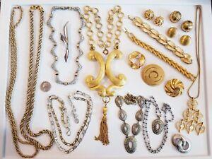 STUNNING Vintage Mod Jewelry LOT Zentall FO Inc Crown Trifari Coro Craft Monet+