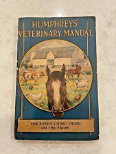 1928 Humphreys Veterinary Manual - Very Clean