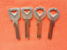 4 VINTAGE FORD OEM IGNITION TRUNK KEY BLANKS 1959 1960 1961 1962 1963 1964