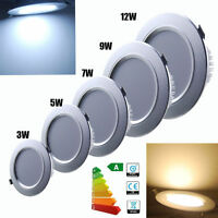 4x 3W 5W 7W 9W 12W LED Recessed Cabinet Ceiling Downlight Light Frosted Lamp NEW