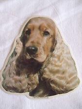 GRAND AUTOCOLLANT  - motif chien Tête COCKER ANGLAIS ROUGE