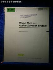 Sony Bedienungsanleitung SAVA 27 Home Theater Active Speaker System (#1415)