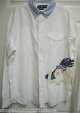 RARE RALPH LAUREN THICK WHITE WINGED WING FOOT BUTTON DOWN 1932 OXFORD SHIRT XXL