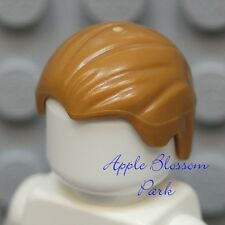 NEW Lego Minifig Male/Boy LIGHT BROWN HAIR - Combed-back w/Widows Peak Head Gear