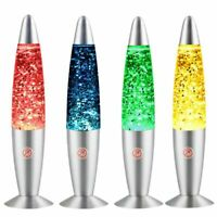 Changing Lava Lamp Rgb Led Glitter Party Mood Night Light Christmas Gift Bedside
