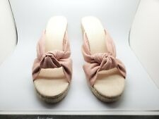 Soludos Knotted Wedge in Linen Dusty Rose Size 9