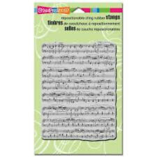 Stampendous Cling Stamp Cling Music Score 12.5 x 9.5 cm CRR103