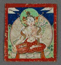 Tibet or Mongolia Antique TSAKLI THANGKA THANKA BUDDHIST PAINTING 19thC or Older
