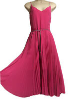 """OASIS Ladies UK 10 Pink Dress Pleated Evening Cocktail Dirty Dancing"""" 80s Party"""