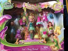 "Disney Fairies Tink's Friendship Festival Fairy Set Mini 4.5"" Tinkerbell Doll"