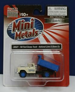 CMW Mini Metals 30527 1:87 HO  1960 Ford Dump Truck National Lime & Stone NIB