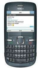 Nokia C3-00 - Slate grey Qwerty (Unlocked) Mobile Phone