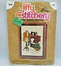 Vintage Embroidery Kit Treadle Sewing Machine Jiffy Stitchery Crafts Needlepoint