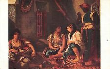 B27450 Art Paintings Tableaux F.V.E. Delacroix Women of Algire in their home