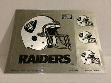2x Vtg 1989 Oakland Raiders NFL Football Helmet Set of 4 Stickers Decal Sheet